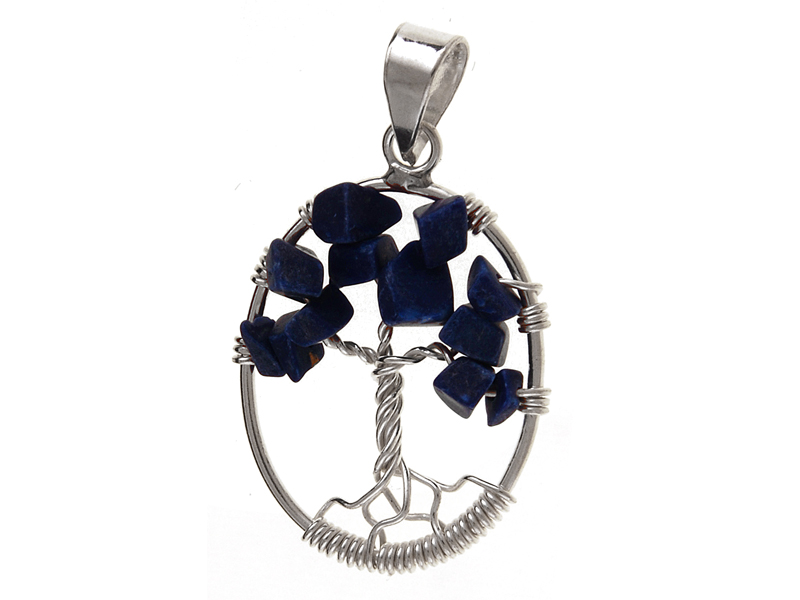 bde1a9cf6604 Elegancki srebrny wisiorek drzewko szczęścia drzewo lapis srebro 925 W0236